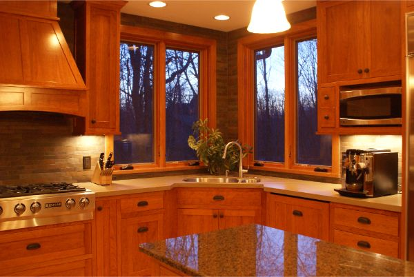 Kitchen Remodel Cherry Wood Cabinets Custom