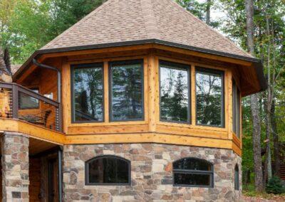 Log Cabin Octagon Addition