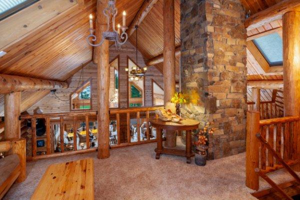 Log Home Upper Landing Area