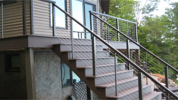 New Deck Stairs And Railing Fit And Finish