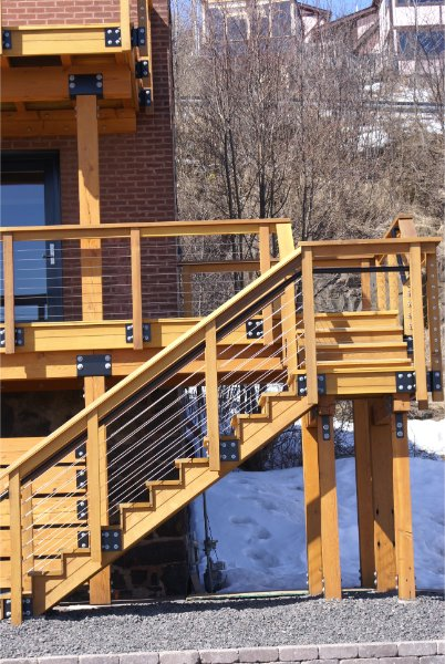 New Two Story Deck With Stairs
