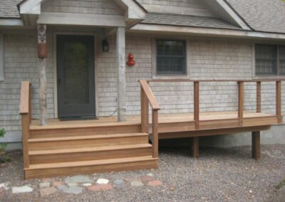 Simple Front Porch Deck Addtion