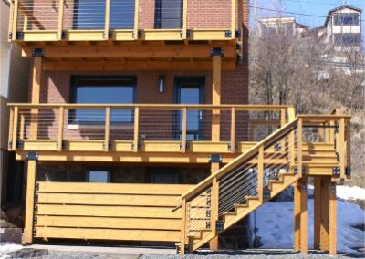 Two Story Deck Construction