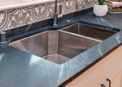 Undermount Large Sink With Soapstone Countertop