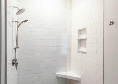Walk In Modern Shower Remodel