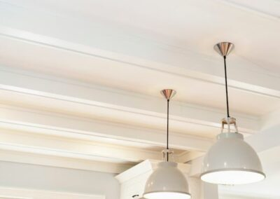 Wall Beams With Pendant Lights
